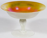 """Steuben """"Calcite"""" Art Glass Compote"""