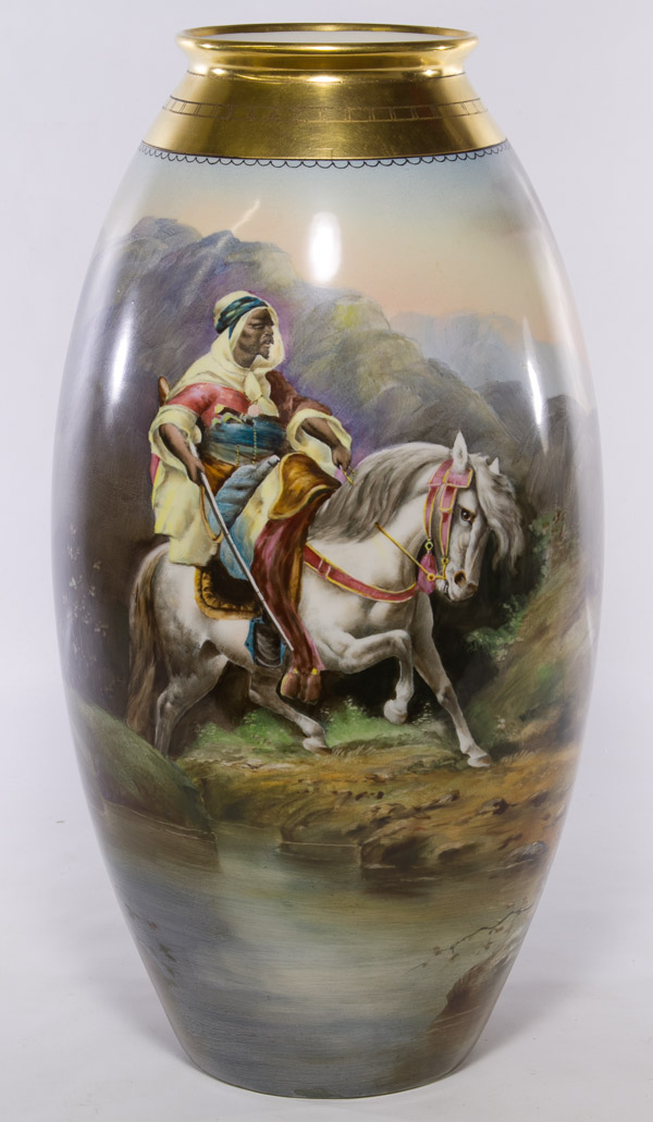 Hand Painted Vase by A(dolf) Heidrich