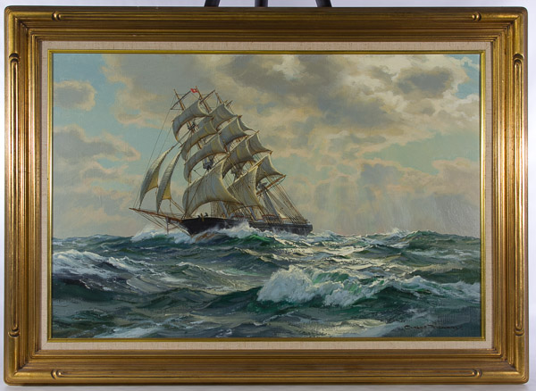 """Charles Vickery (American 1913-1998) """"The Spindrift"""" Oil on Canvas"""