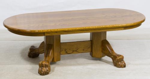 Oak Claw Foot Oval Coffee Table Leonard Auction