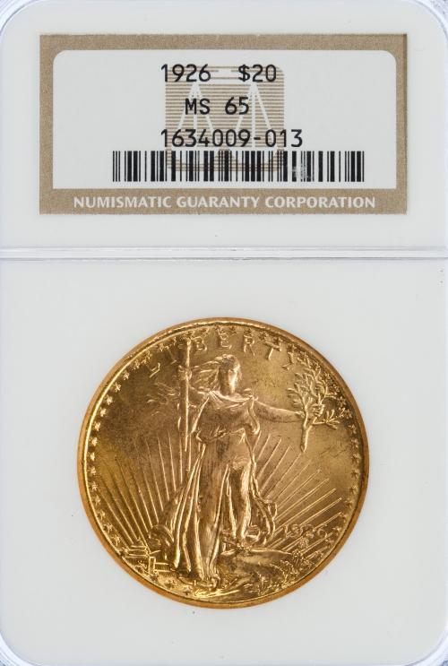 1926-P $20 St. Gaudens MS-65 NGC