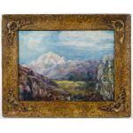 """Julian Onderdonk (American, 1882-1922) """"Mountains"""" Oil on Canvas Board"""