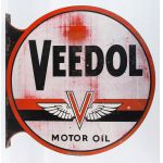 Painted Metal Veedol Oil Sign by Stout Sign Co.