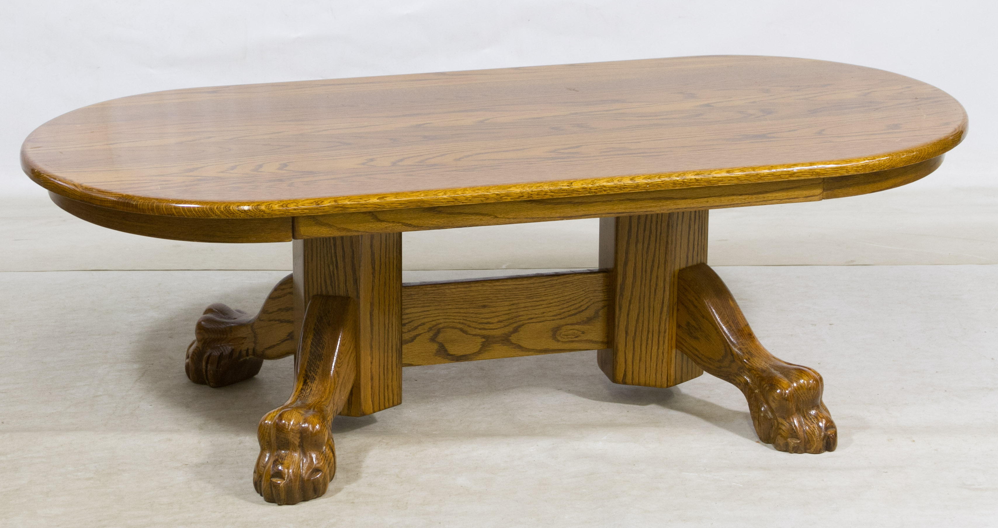 lot 51 oak claw foot oval coffee table leonard auction sale 206. Black Bedroom Furniture Sets. Home Design Ideas