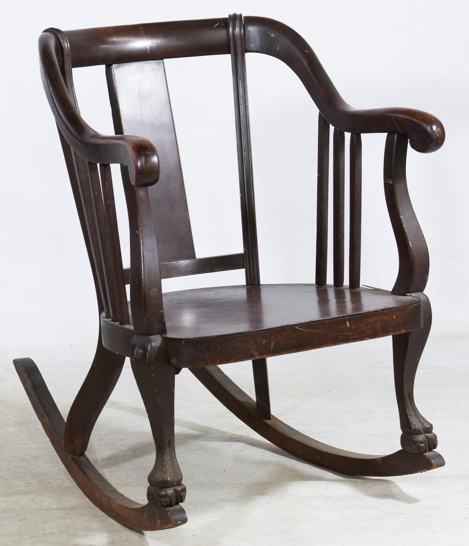 Empire Style Mahogany Rocking Chair Leonard Auction