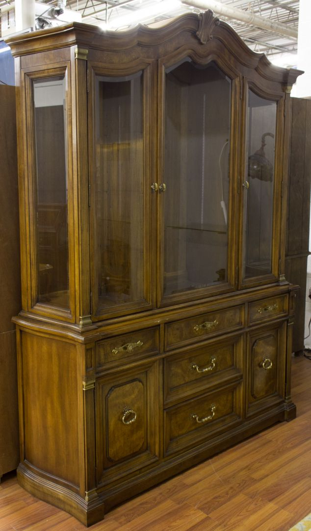 White Furniture Company Bedroom Set: Lot 80: Fruitwood China Cabinet By White Furniture Company