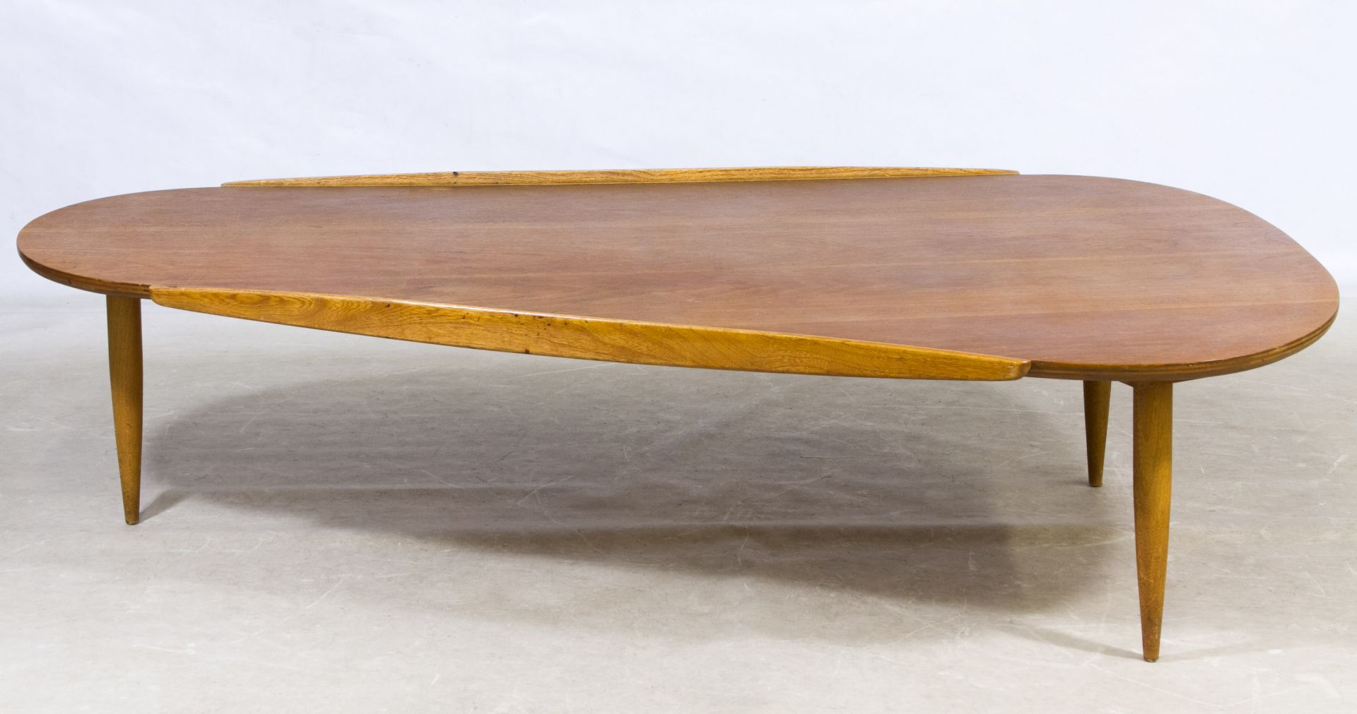 Lot MidCentury Modern Boomerang Coffee Table By Lane - Mid century modern boomerang coffee table