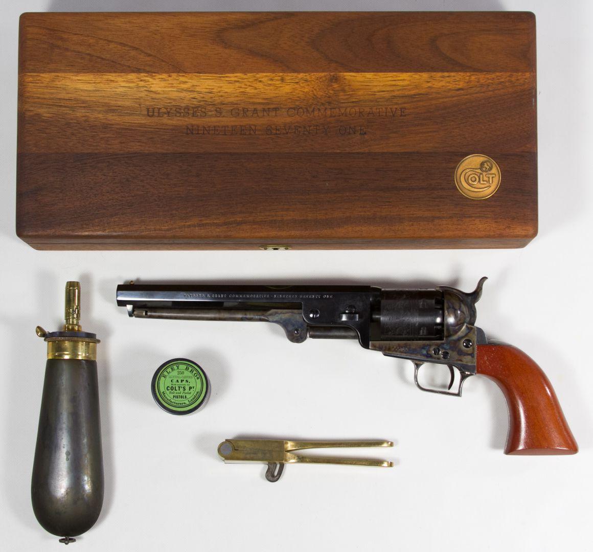 Lot 376: Colt Ulysses S  Grant Commemorative 1851 Navy  36 Cal  Cap