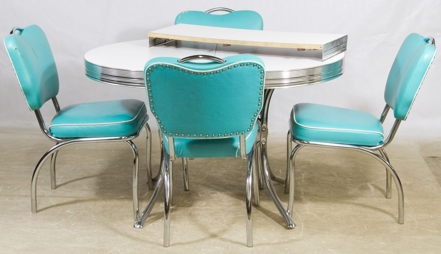 Mid Century Modern Chrome And Formica Kitchen Table Chairs By Stoneville Furniture Co