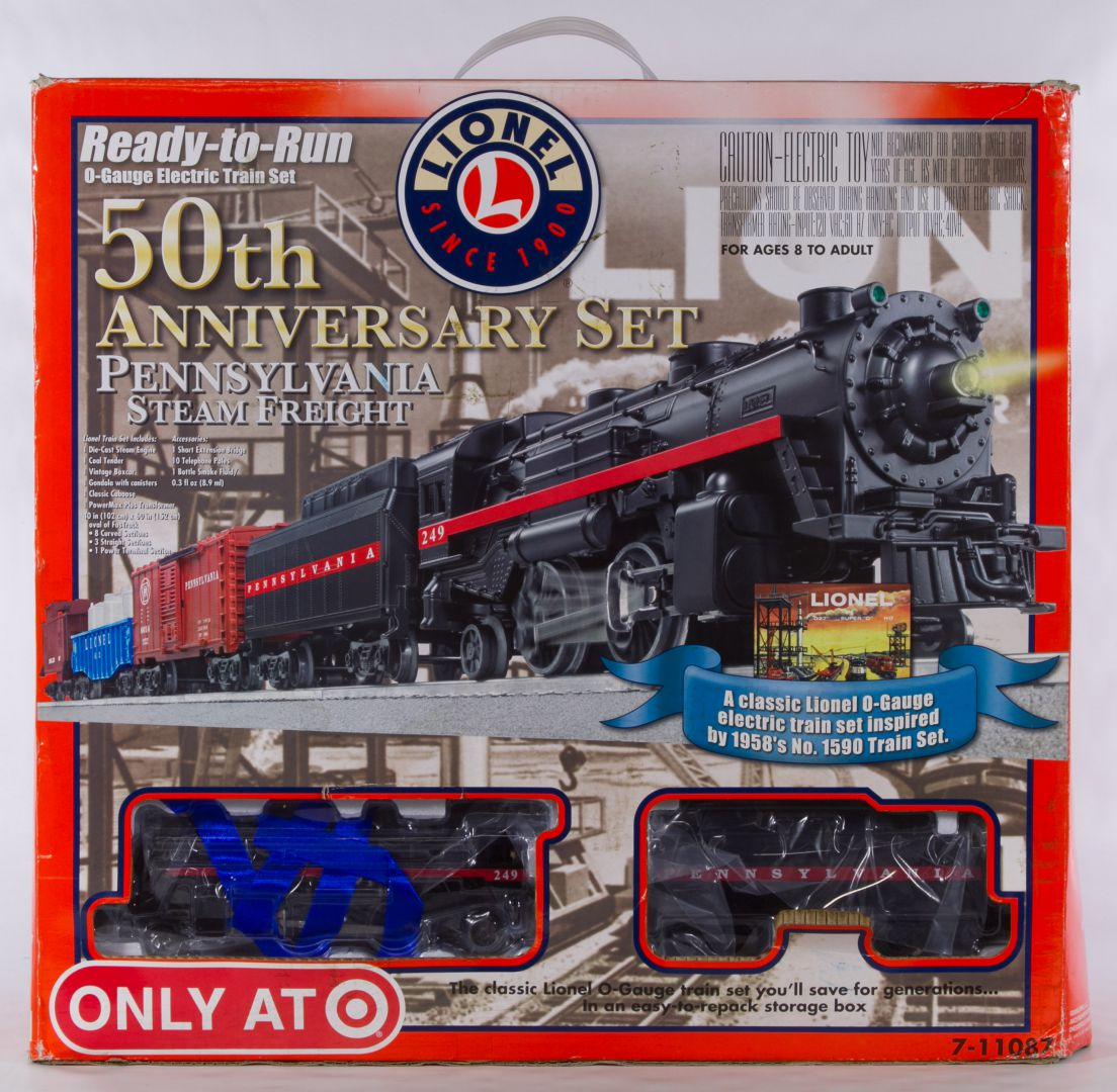 Lionel O Gauge 50th Anniversary Model Toy Train 7 11087 Set