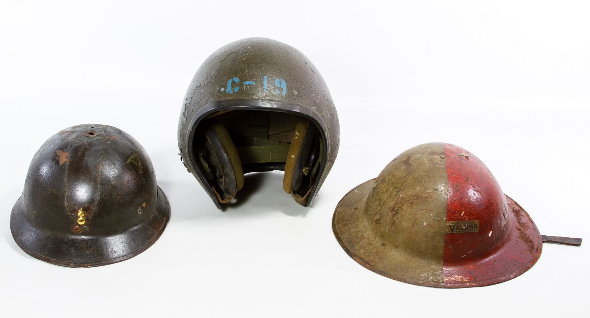 Lot 651: World War II Era Military Helmets | Leonard Auction Sale #215