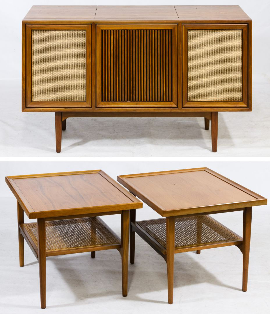 Mid Century Modern End Tables And Stereo Cabinet By Drexel