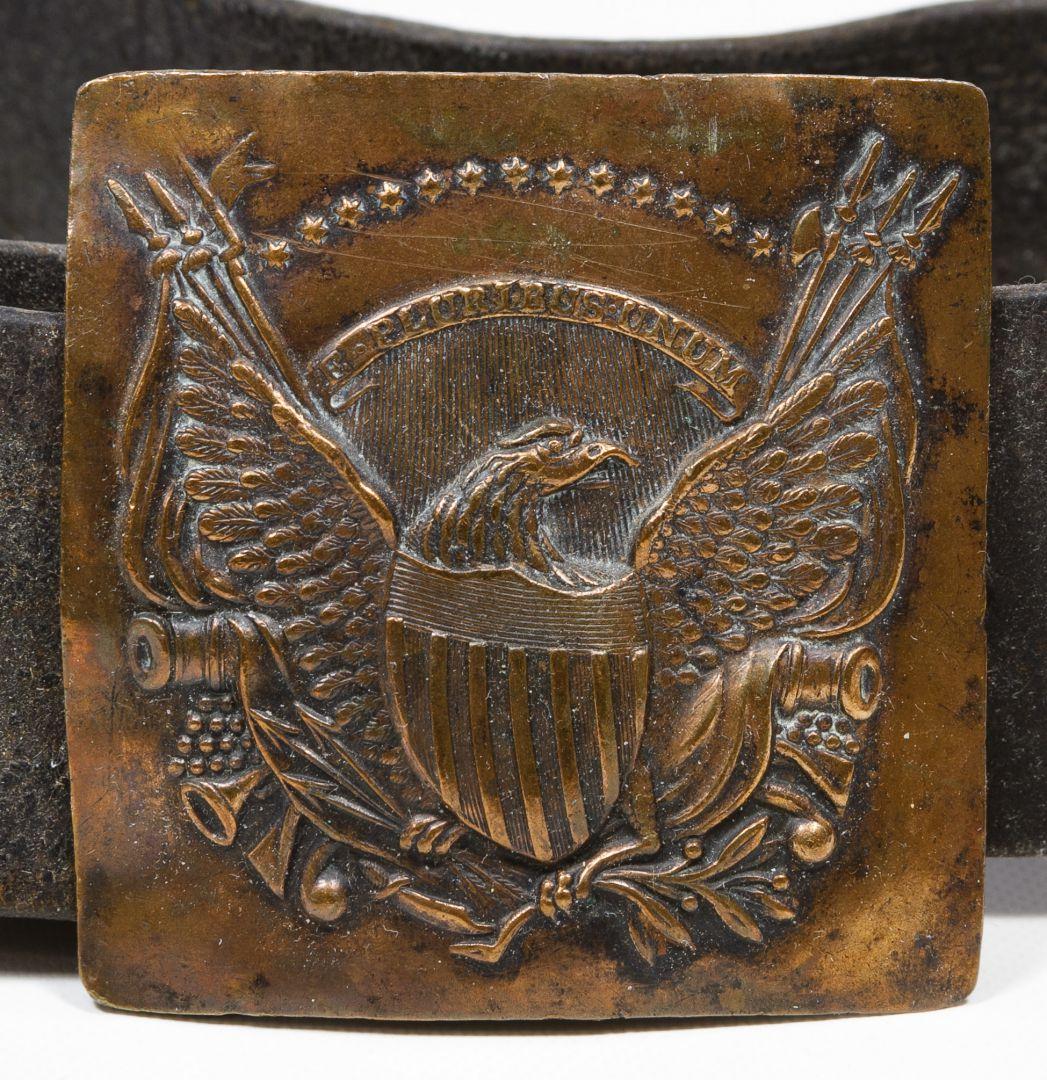 Lot 509 War Of 1812 Cartridge Box And Belt Buckle