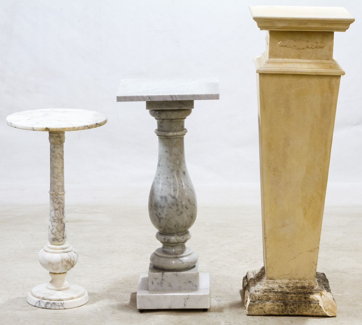 antiques s tmp england scagliola pedestals prime resource for architectural lassco plaster pedestal