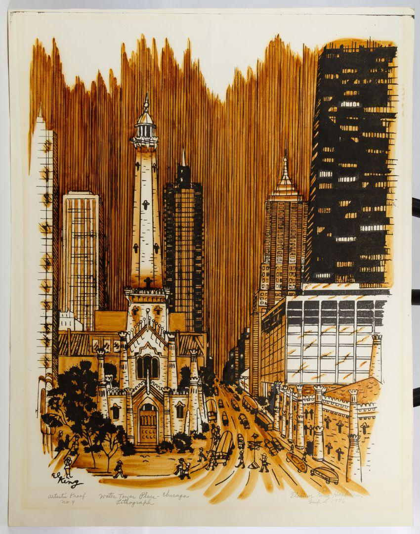 Lot 294: Eleanor King Hookham (American, 1909-2003) Ink ...
