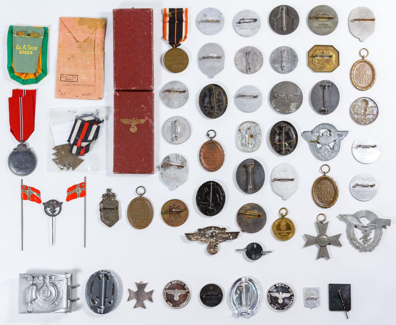 Lot 411: World War II German Nazi Medal and Token Assortment