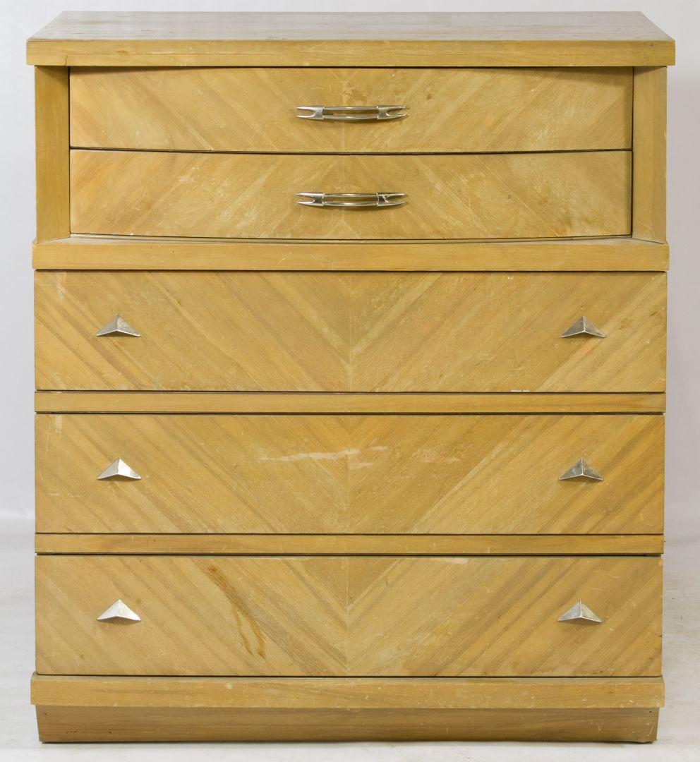 Mid Century Modern Fruitwood Dresser By United Furniture Company