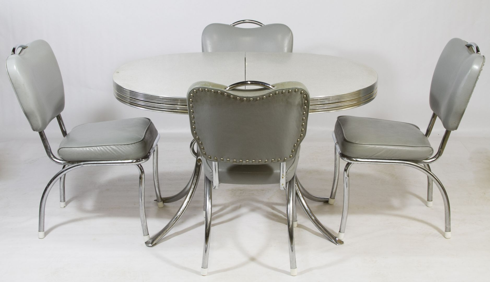 Mid Century Modern Chrome Kitchen Set By Daystrom For Ladd Furniture