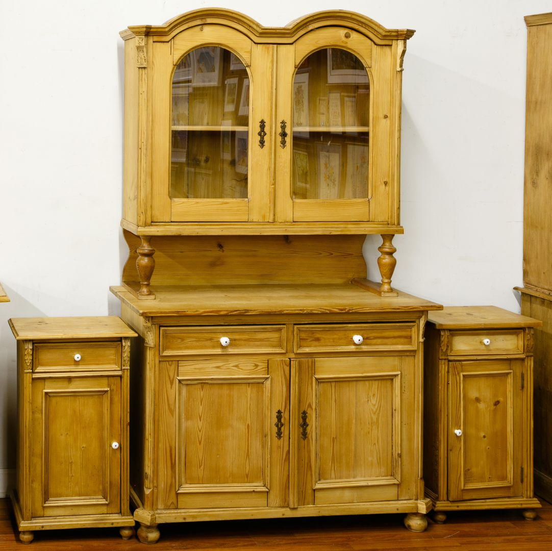 Lot 76: French Country Pine Cabinets | Leonard Auction ...