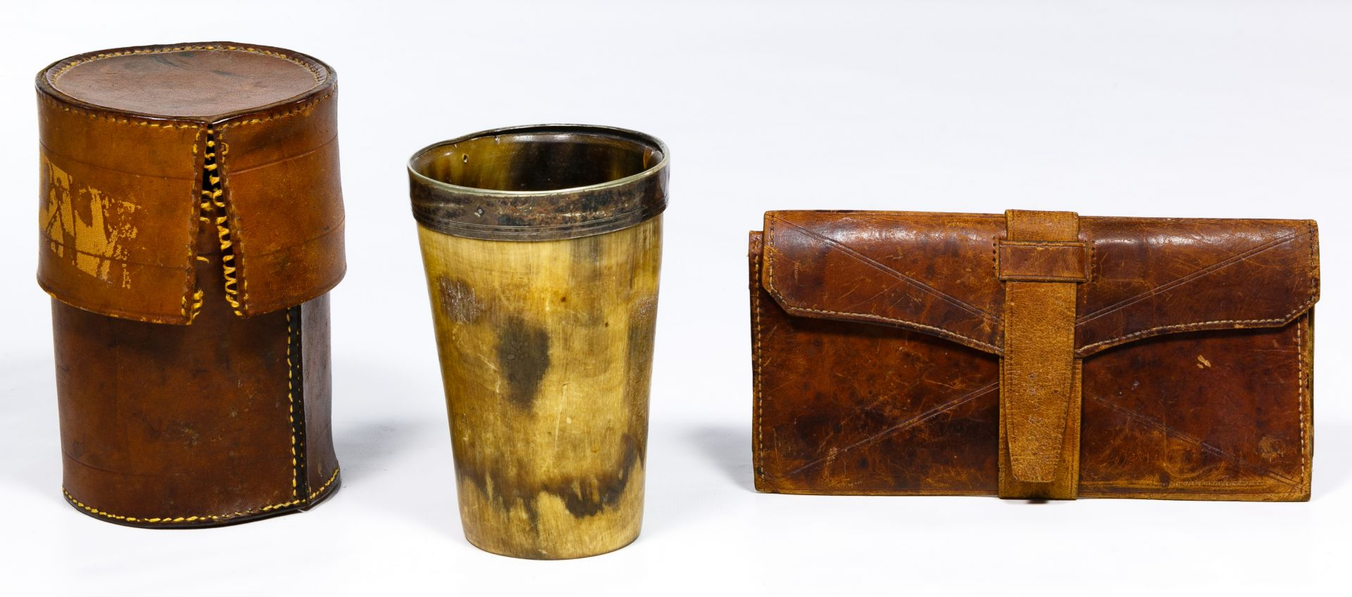 098be04d87 Lot 309: Civil War Era Drinking Cup with Leather Storage Case and ...