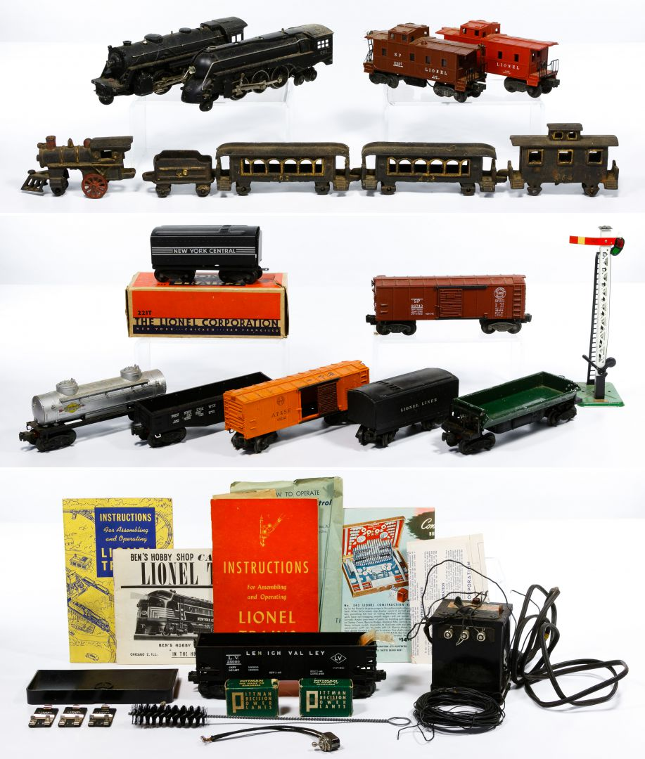 Nycrr Cast Iron Train: Lot 356: Lionel And Cast Iron Model Train Assortment