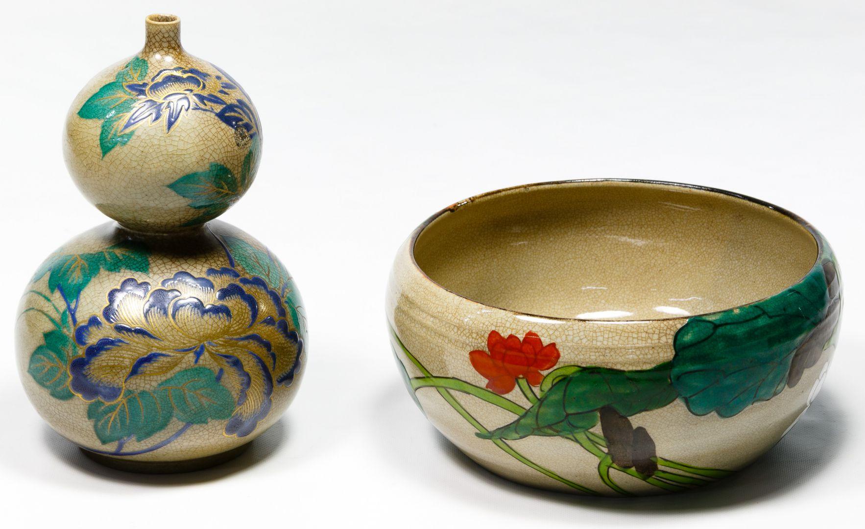 Lot 440: Japanese Enameled Celadon Assortment | Leonard ...