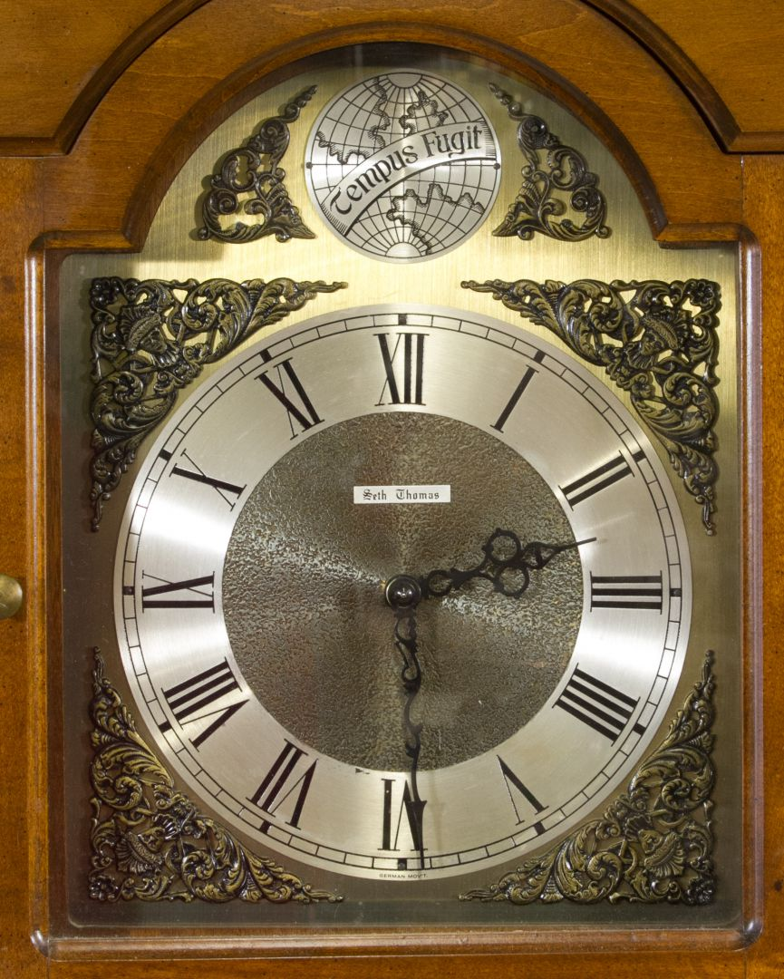 Lot 247 seth thomas tempus fugit grandfather clock leonard view 2 seth thomas tempus fugit grandfather clock amipublicfo Image collections