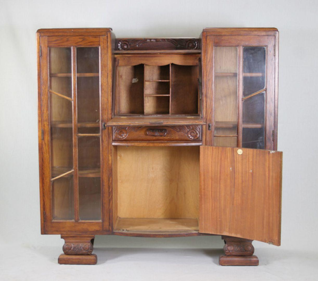 View 2: Oak Bookcase U0026 Secretary By Scully Furniture