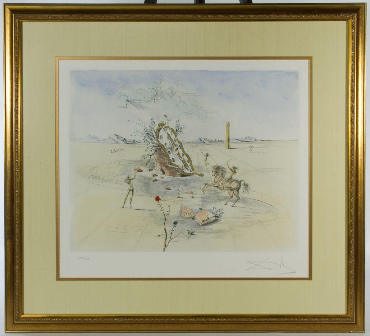 Salvador Dali Spanish 1904 1989 Cosmic Horseman Lithograph
