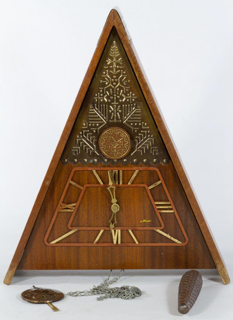 Lot 1302: Maax A Frame Cuckoo Clock with Weight & Pendulum | Leonard ...