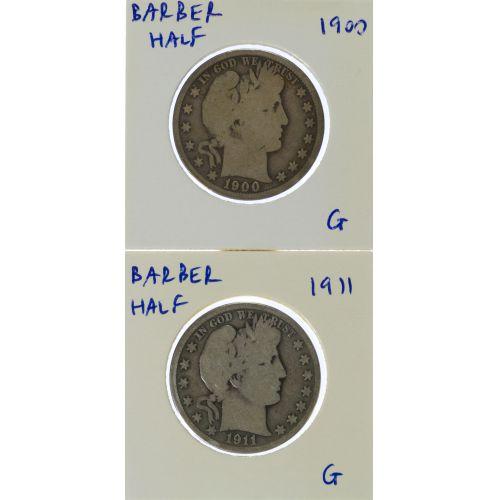 1900, 1911 50c G-AG
