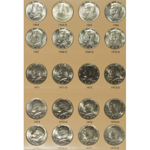1964-2010 Kennedy 50c Complete Set MS-63 - MS-65