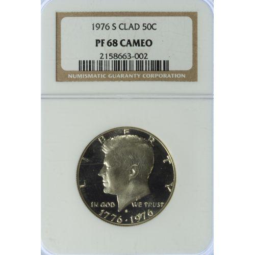 1976-S Clad 50c PF-68 CAMEO NGC