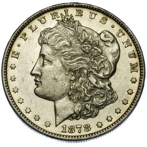 1878 7/8TF $1 AU-55