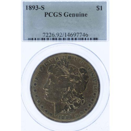 1893-S $1 F Details PCGS