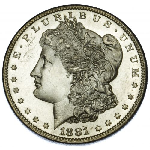 1881-S $1 MS-63 PL