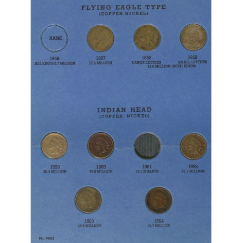1856-1909 Indian Head 1c Partial Set