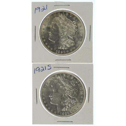 1921, 1921-S $1 AU