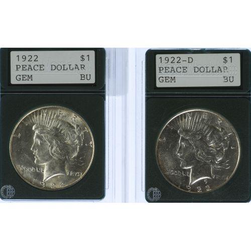 1922, 1922-D $1 MS-61