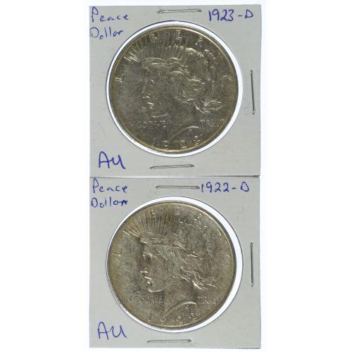 1922-D, 1923-D $1