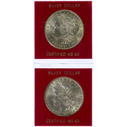 1889, 1921 $1 MS-62