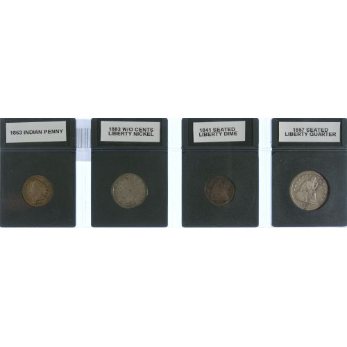 19th Century Four Coin Type Set