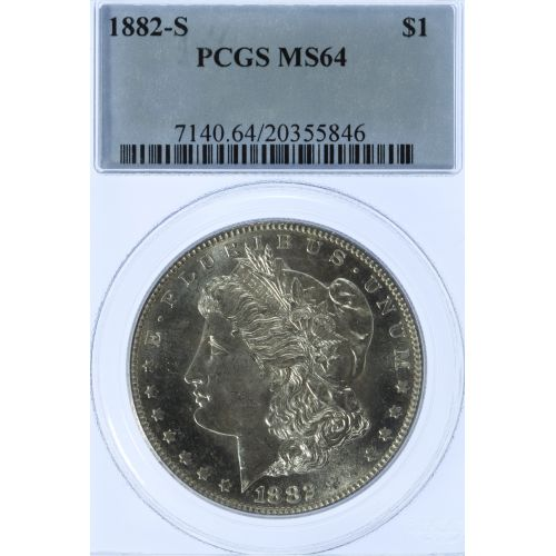 1882-S $1 MS-64 PCGS