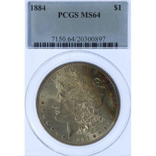1884 $1 MS-64 PCGS