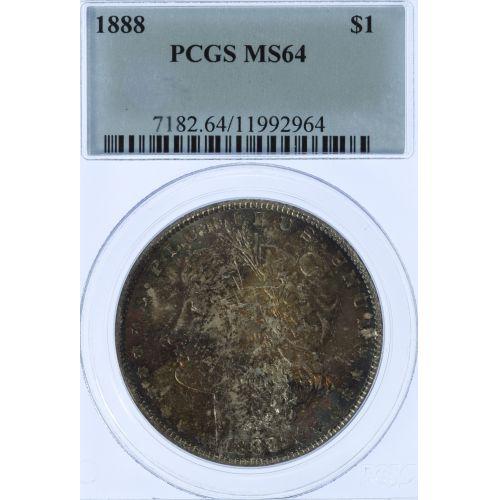 1888 $1 MS-64 PCGS