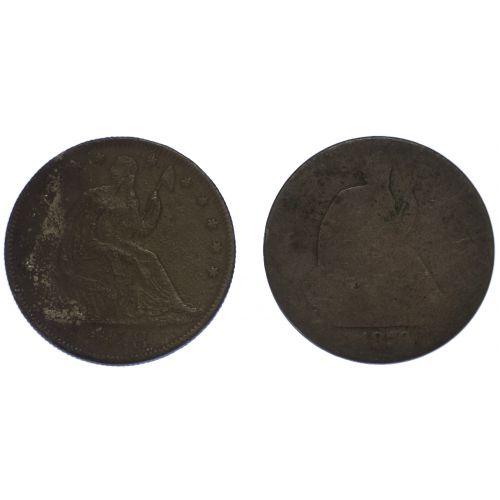 1858-O, 1870 50c