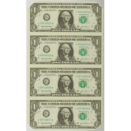 2006 $5 & $1 Uncut Sheets