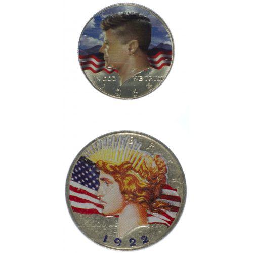 1922 $1, 1967 50c Colored