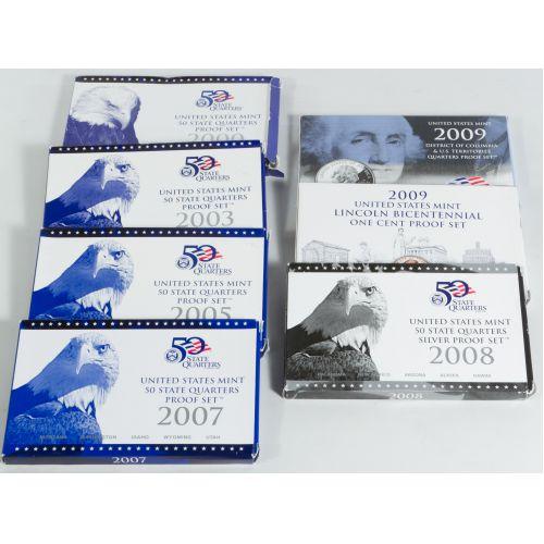 2000, 2003, 2005, 2007, 2008, 2009 State Quarter Sets