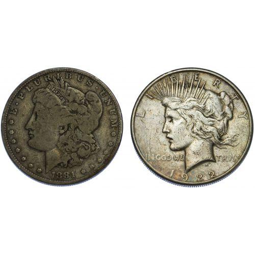 1881-O, 1922-S $1
